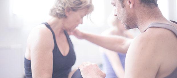 Peter Sanson teaching in the shala of Astanga Yoga Copenhagen