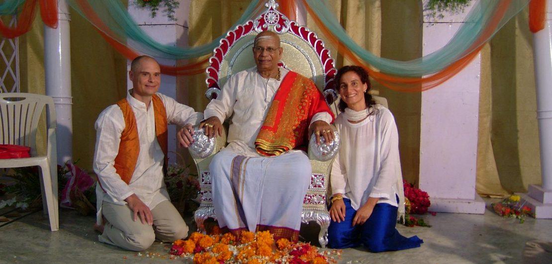 Glædelige minder fra store begivenheder - Jens og Susanna med Guruji i Mysore til sin 90 års fødselsdag